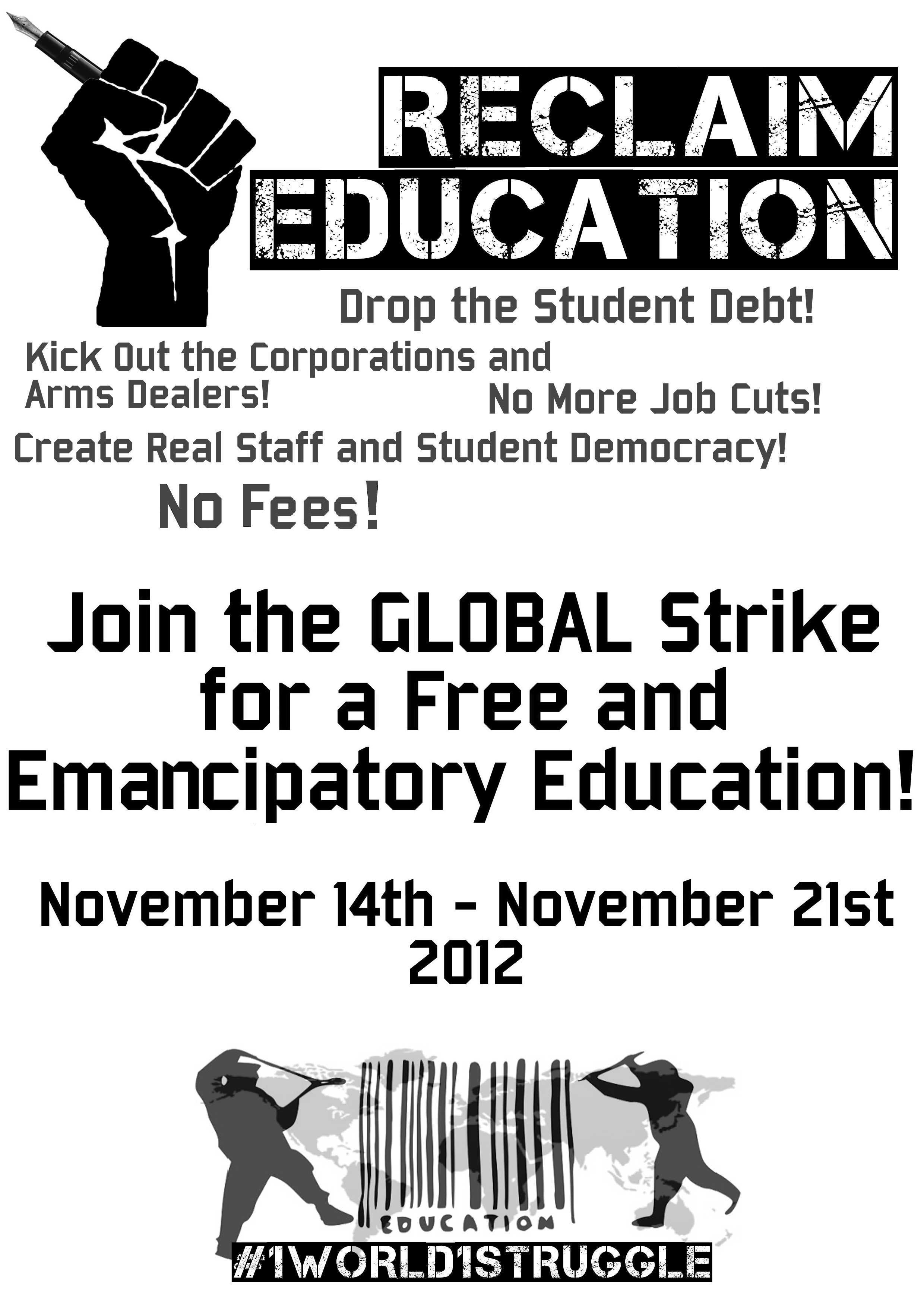 Reclaim Education! Poster
