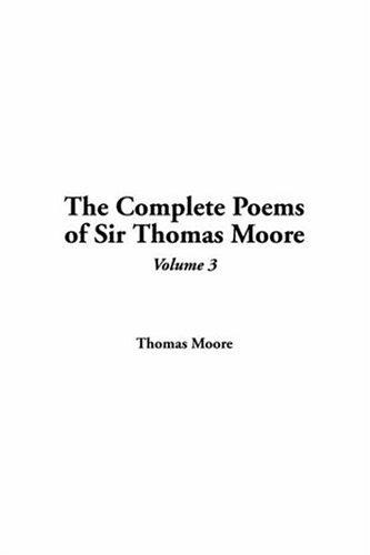 Download The Complete Poems of Sir Thomas Moore