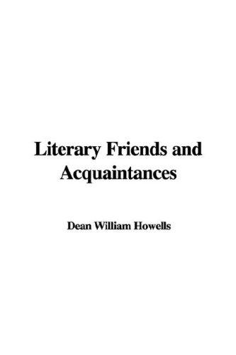 Literary Friends And Acquaintances