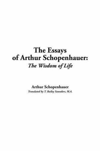 Download Essays Of Arthur Schopenhauer
