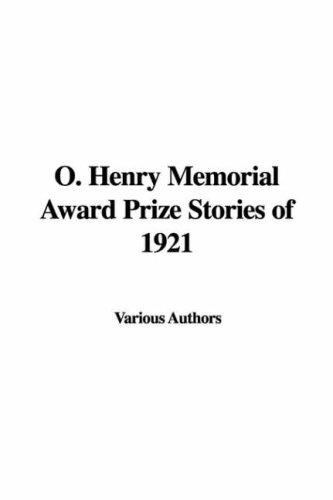 O Henry Memorial Award Prize Stories Of 1921