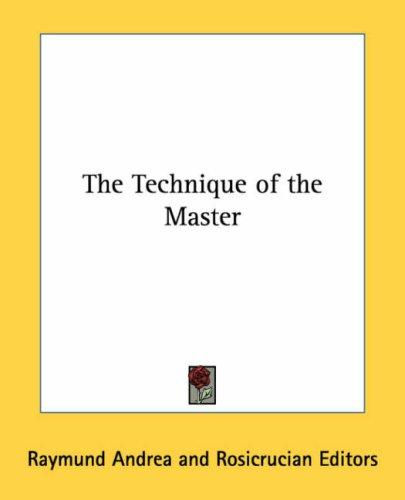 Download The Technique of the Master