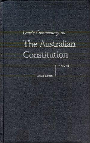 Download Lane's Commentary on the Australian Constitution
