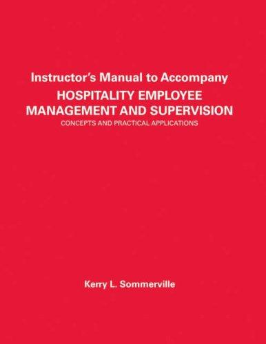 Download Hospitality Employee Management and Supervision