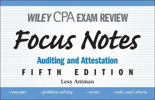 Download Wiley CPA Examination Review Focus Notes
