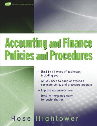 Thumbnail of Accounting and Finance Policies and Procedures, (with URL)