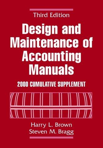 Download Design and Maintenance of Accounting Manuals