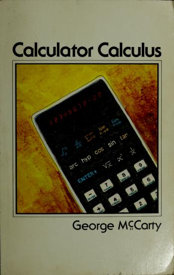 Cover of: Calculator calculus | George McCarty