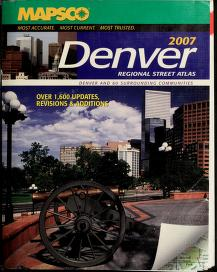Cover of: Denver Regional Street Guide 2007 | MAPSCO