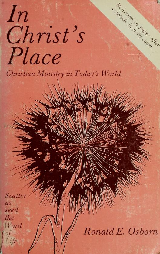 In Christ's place by Ronald E. Osborn