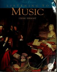 Cover of: Listening to music | Craig M. Wright