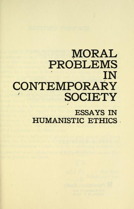 Moral problems in contemporary society by Paul Kurtz