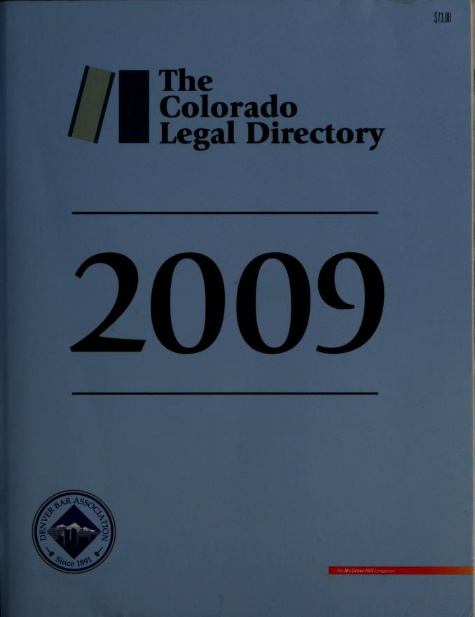 Official Colorado legal directory by