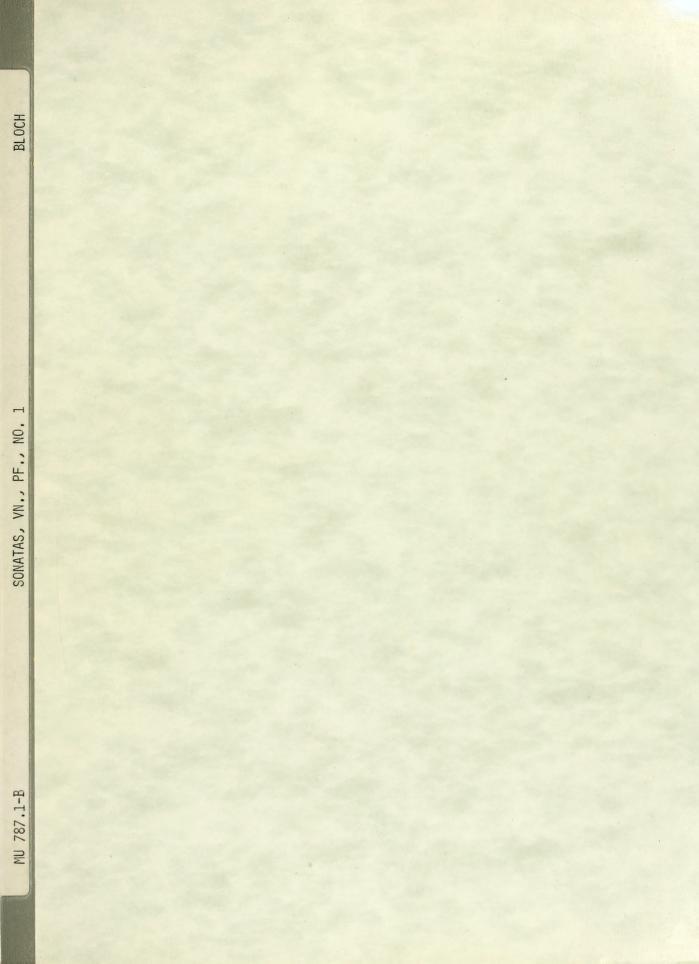 Sonate pour violon et piano by Ernest Bloch