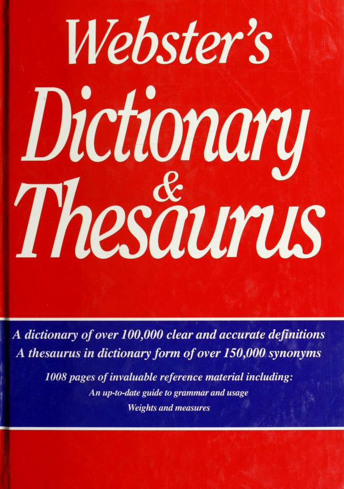 Webster's Dictionary and Thesaurus by Smithmark Press