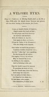 A Welcome Hymn (1850)