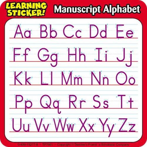 Manuscript Alphabet Learning Stickers by Scholastic
