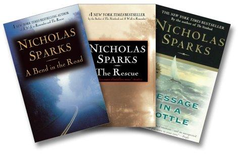 Nicholas Sparks Love Stories Three-Book Set (A Bend In the Road, The Rescue, Message in a Bottle) by Nicholas Sparks