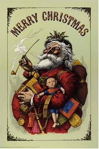 Merry Christmas Poster by Thomas Nast
